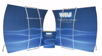 Trade Show Displays In LosAngeles has top quality tension fabric trade show graphics and hanging signs with perfect graphic images